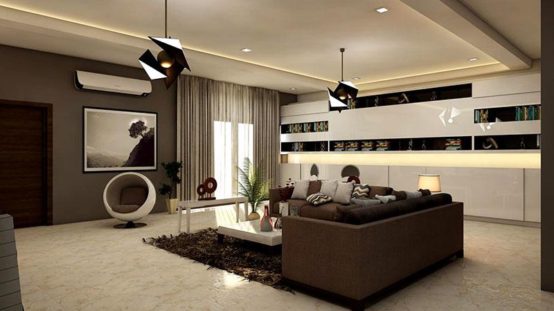 rectangular-white-coffee-table-near-brown-leather-sofa